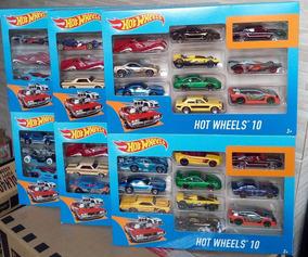 Pacote Presente C/ 10 Carrinhos Hot Wheels Sortidos Mattel