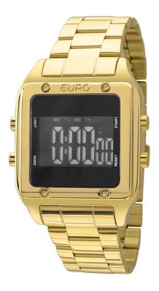 Relógio Euro Fit Feminino Eug2510aa/4p Dourado Digital