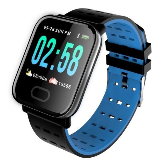 Relogio Smartwatch Inteligente A6 Corrida Batimentos Android