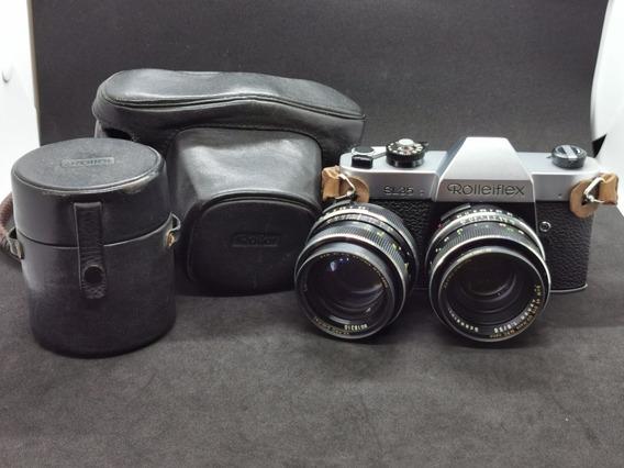 Câmera Rolleiflex Sl35 + Xenon 50 1.8 E Zeiss 85mm 2.8