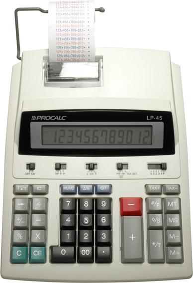 Calculadora Com Impressão Lp45 Procalc Semi Profissional