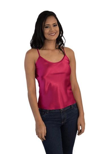 Camiseta Cetim Rosa Shock