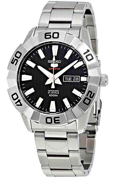 Relógio Seiko Masculino Prata Com Preto - Srpa51b1
