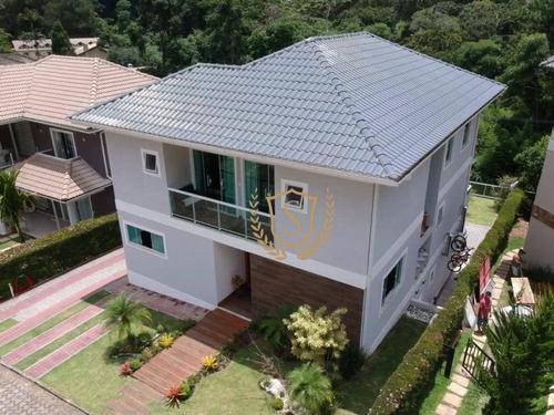 Casa Com 4 Dormitórios À Venda, 260 M² Por R$ 1.800.000,00 - Quebra Frascos - Teresópolis/rj - Ca0581