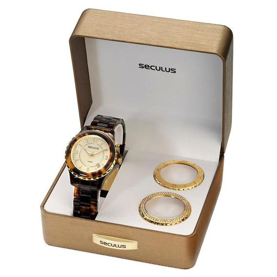 Kit Relógio Seculus Feminino - 24774lpsfdp1
