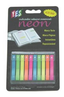 Indicador Adesivo Neon Diversas Cores 10un 45693 Yes