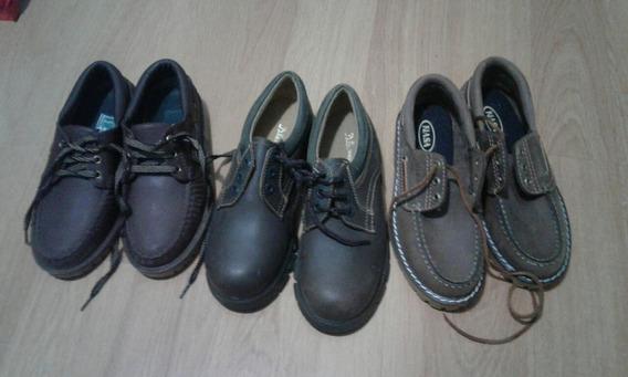Zapato Escolar Marron Lote De Tres Pares Oportunidad