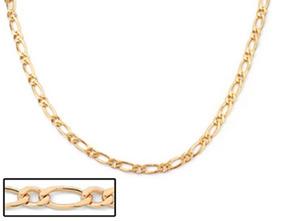 Cordão Folheado A Ouro Rommanel Com Fio Alternado 530094
