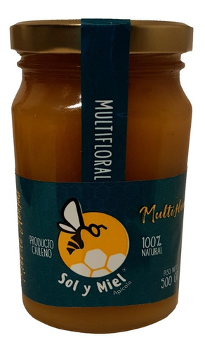 Miel Natural Multifloral 1/2 Kg, Sol Y Miel