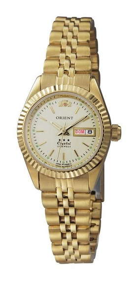 Relogio Feminino Orient Automatico Dourado 559eb1x-c1kx