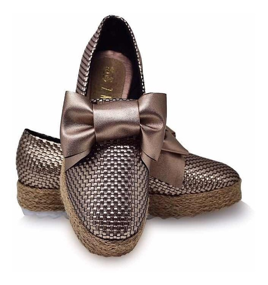 Zapato De Dama Diseño Material Tejido Dasalo