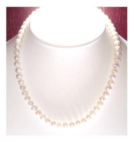 3a9ed9992d65 Collar Perlas Cultivadas Naturales Con Broche De Oro A027