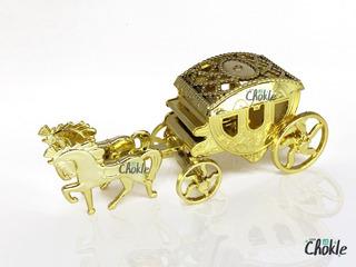 50 Carruagem Cavalinho Douradas - Lembrancinhas - Festa