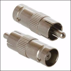 Plug Conector Adaptador Bnc Femea X Rca Macho