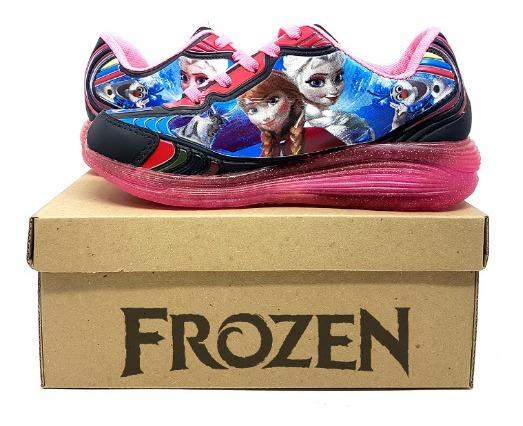 Tênis Infantil Frozen Com Led E Rodinhas