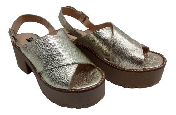 Sandalia Cuero Vacuno Base Plataforma Zapato Primavera 2444