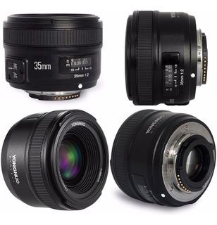 Lente Yongnuo Yn-35 F2 N Af / M Fijo 35mm Para Nikon