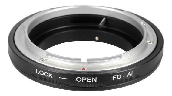 Anel Adaptador Canon Fd Para Nikon F G Af - Macro