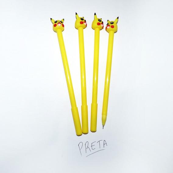 Caneta Pikachu Pokemon Kit Com 3