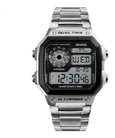 Reloj Skmei Digital Deportivo Casual 3 Atm Metálico 1335