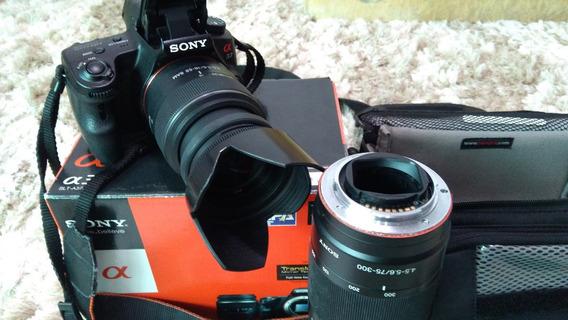 Camera Sony Dlsr Alph A37 Dslr 2 Lentes + Caixa + Acessorios
