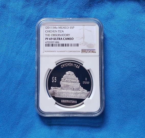 Moneda El Observatorio Chichen Itza Certificada Ngc