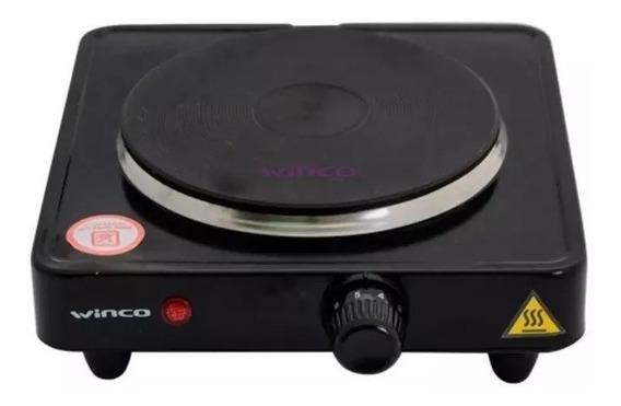 Anafe Electrico Winco W40 1 Hornalla 1000w Con Termostato