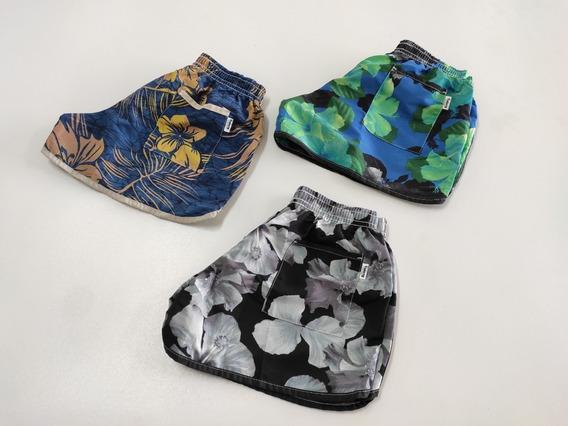 Kit 8 Shorts Femininos Top Verão Moda Praia Surf Tactel
