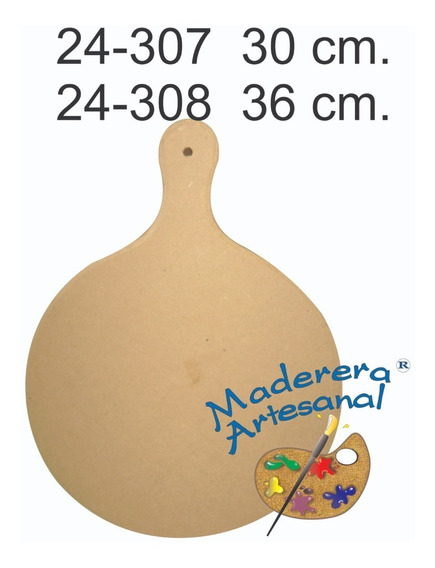 Tabla Pizzera De Fibrofacil En 30 Cm Picadas Entradas Cocina