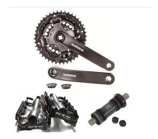 Pe De Vela Tourney Ty301 42/34/24 Eixo Shimano+ Pedal Gts