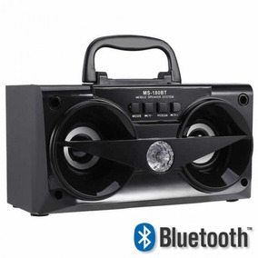 Caixa De Som Bluetooth 10watts Ms-180bt - Cor Preta