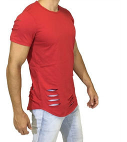 Camisa Oversized Longline Escaping Manga Barra Rasgada