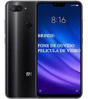 Celular Xiaomi Mi 8 Lite 64gb Versão Glob+nota Fis+case+fone