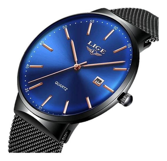 Relógio Masculino Lige 9903 Slim Casual Original Oferta