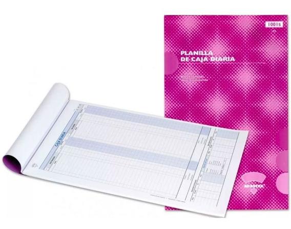 Talonario Ad Astra Planilla De Caja Diaria 1001s 1001