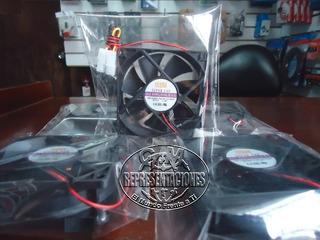Ventilador Interno X Pc 8x8x2.5cm Black/led 2 / 3 / 4 Pines