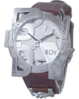 Reloj Hombre Vintage Boy London Con Malla De Cuero Marron