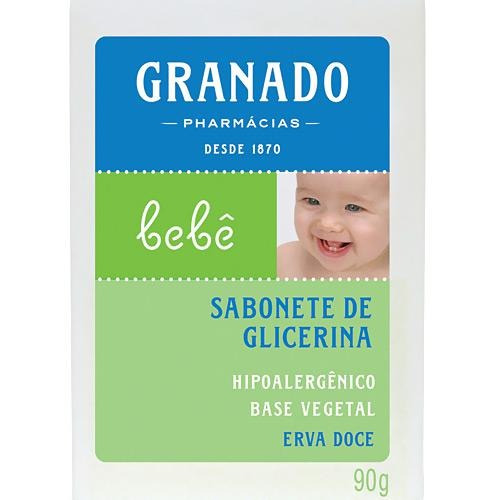 Sabonete Barra De Glicerina Erva-doce P/ Bebês 90g - Granado