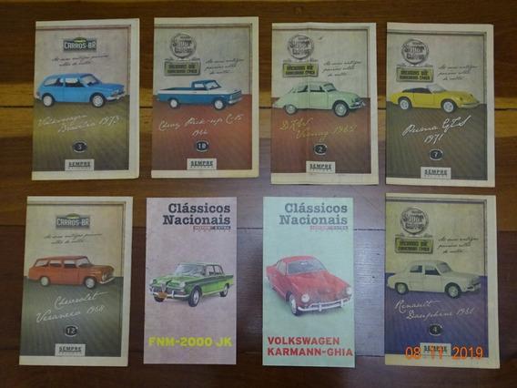 Pacote C/ 8 Fascículos Clássicos Nacionais Super Carros R475