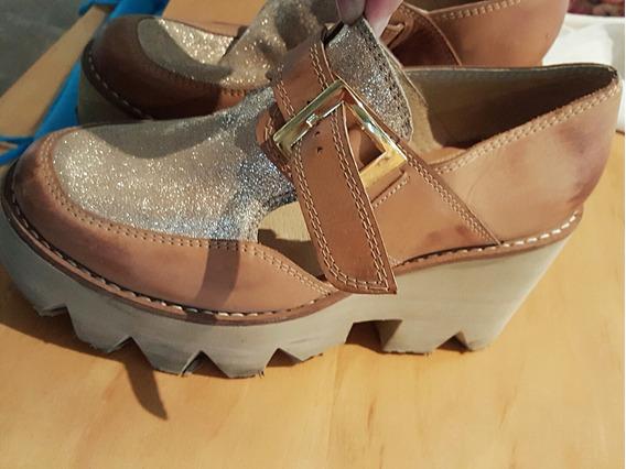 Zapatos 100% Cuero De Mujer Talle 39 1 Solo Uso