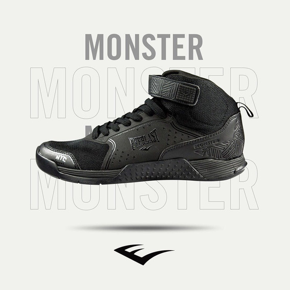 Tenis Everlast Monster Preto N º 38