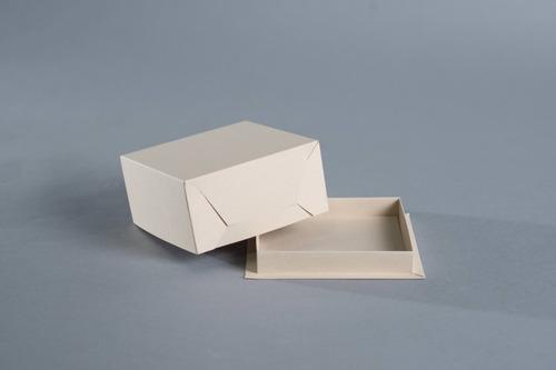 Caja Base Bandeja + Tapa 13 X 13 X 6,5 Cm (x50 U.) Tortas Tartas Postres Porciones Individuales Bauletto