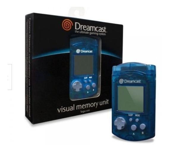 Vmu Dreamcast Original Lacrado Azul - Visual Memory Unit