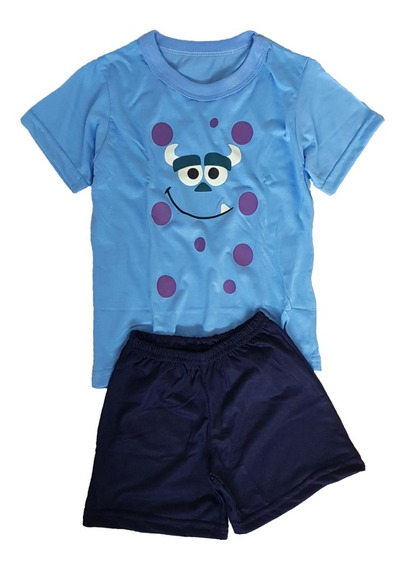 Kit 4 Pijamas Infantis (2 Curtos E 2 Longos)