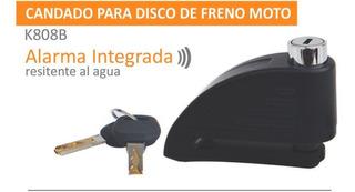Dos 2 Candados Para Moto Con Alarma Integrada 2 Piezas.