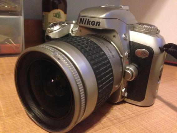 Câmera Nikon Analógica N75 ( C/ Defeito)