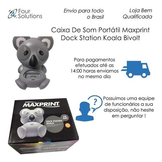 Caixa De Som Portátil Maxprint Dock Station Koala Bivolt