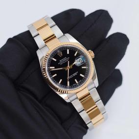 Rolex Datejust 36 Aço E Ouro 18k I Relógio Feminino Original
