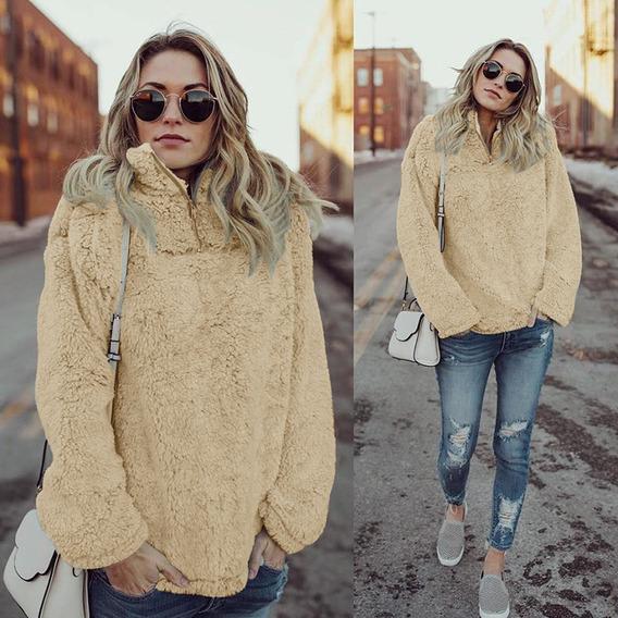 Moda Para Mujer De Invierno Con Capucha Abrigo Fleece