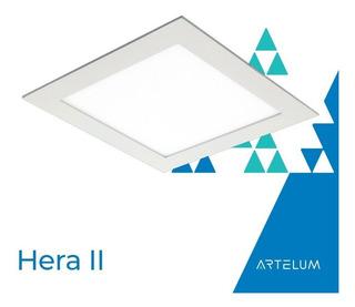 Panel Led 18w Embutir Cuadrado Platil Luz Calida Hera 2 Artelum